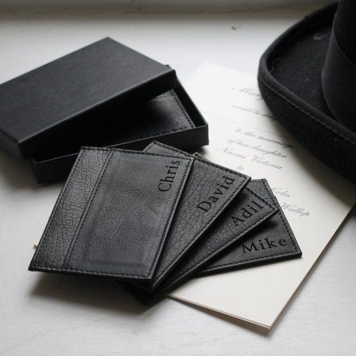 Sean Black Leather Card Holder