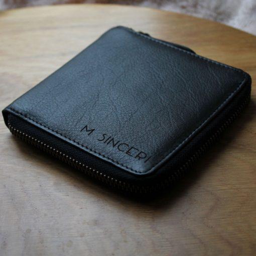 Westbourne Black Leather Bespoke Engrave