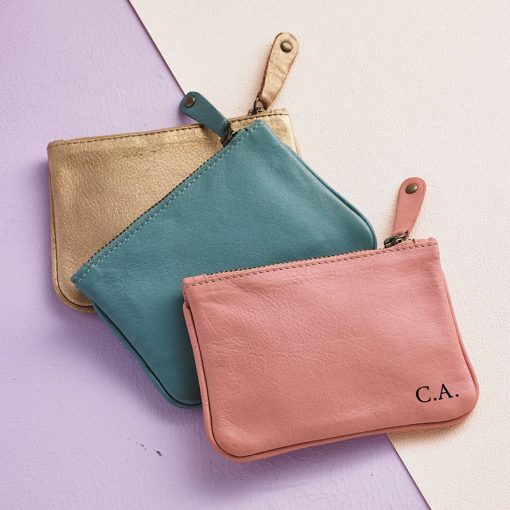 Gold, Teal, Blush Leather