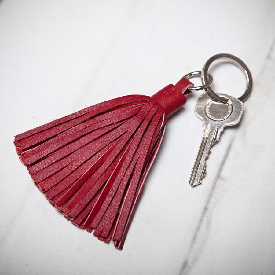 How To Make Leather Tassel Keyring