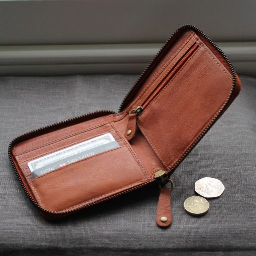 Tan Leather Westbourne Wallet Interior