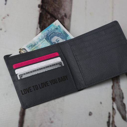 Grey Leather James Classic Wallet