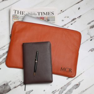 Ladbroke Tan Leather Document / Laptop Sleeve