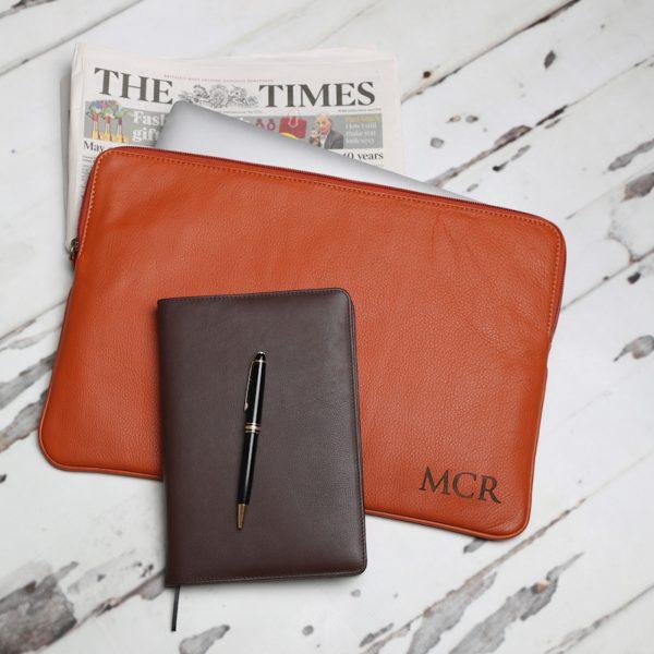 Ladbroke Tan Leather Document / Laptop Sleeve