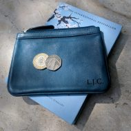 Polly Purse Blue Leather