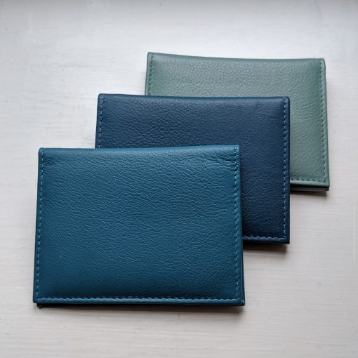 Paddington Blue, Teal Blue & Mint Leather