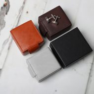 Clark Leather Cufflink Boxes