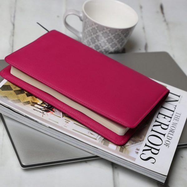 Wilde Notebook Fuchsia Leather