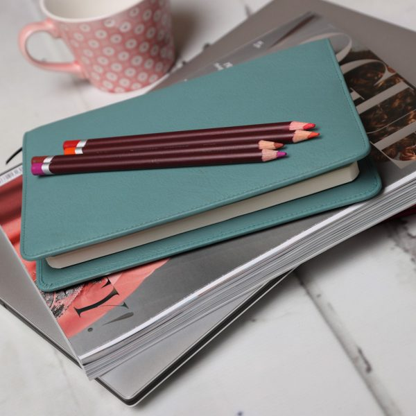 Wilde Notebook Teal Leather