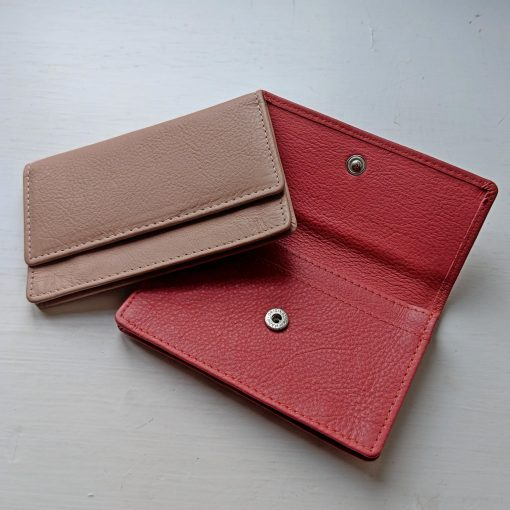 Theo Card Holder Nude & Earthy Red
