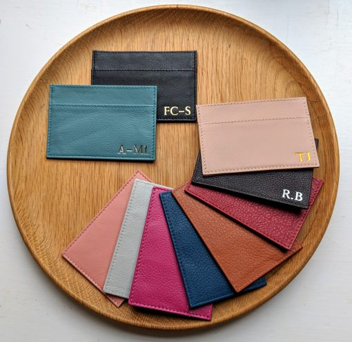 Foiled Leather Card Holders