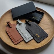 Foiled Leather Luggage Tag
