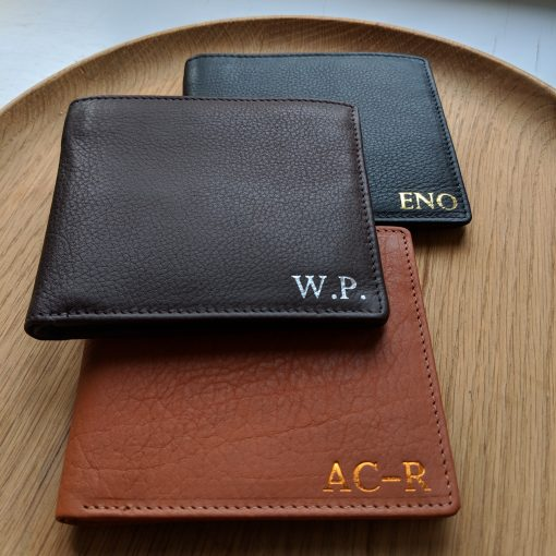 Classic Foiled Leather Wallet