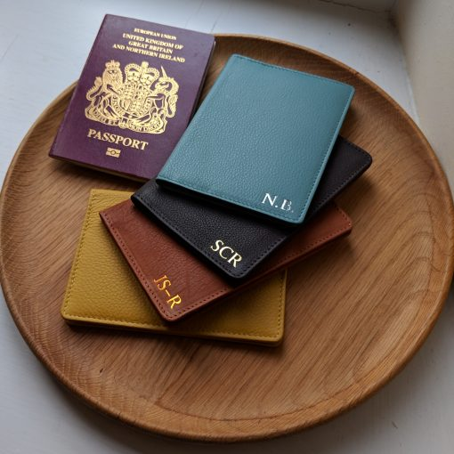 Foiled Leather Passport Cover