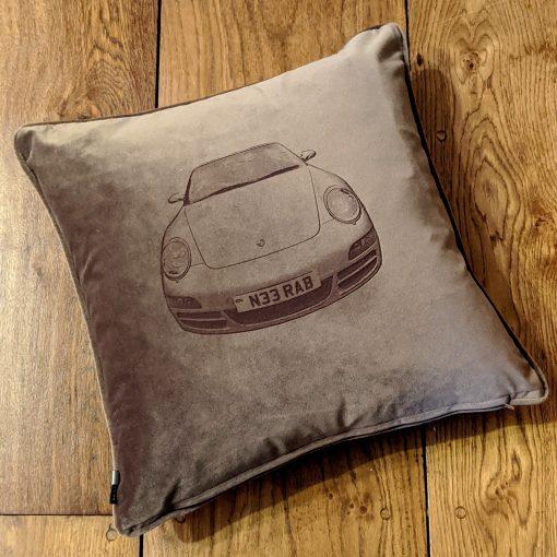 Velvet Porsche Cushion