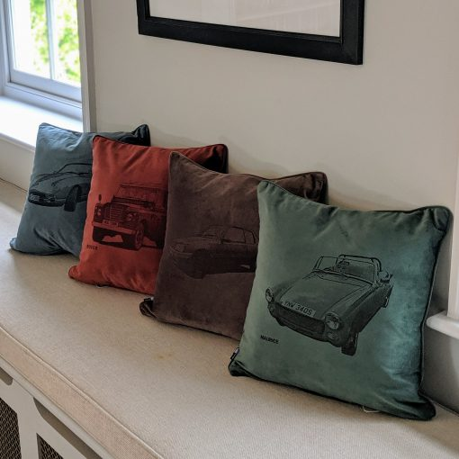 A line of 'Your Motor' cushions